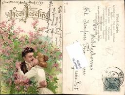 579759,Präge Lithographie Namenstag Kuss Paar Liebe Hoch Josefine - Feiern & Feste