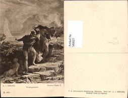 580027,Künstler Ak A. V. Kreling Theaterszene Goethe Faust Walpurgisnacht Pub F. A. A - Ansichtskarten