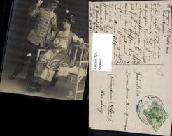 580041,Operette Lustige Witwe Spruch Text Theaterszene Theater - Ansichtskarten