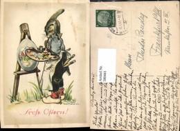 580441,Künstler Ak Hilla Peyk Hase Als Künstler Maler Ostern Vermenschlichte Tiere - Ansichtskarten