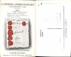 580443,La Croisade De Femmes Francaises Paris Chiffon De Papier 19 Jhdt. Politik - Ansichtskarten