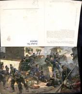 580454,Künstler Ak Kampf Unterleutnant Spreither Chaltillon 1870 19 Jhdt. Patriotik - Ansichtskarten