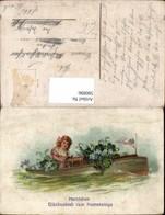 580896,Litho Kind Mädchen I. Boot Kronprinz Wilhelm Adel Namenstag - Kinder