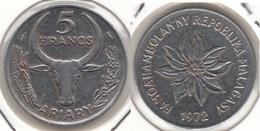 Madagascar 5 Francs 1972 KM#10 - Used - Madagascar