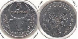 Madagascar 5 Francs 1977 KM#10 - Used - Madagascar