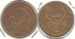 Madagascar 10 Francs 1972 F.A.O. KM#11 - Used - Madagascar