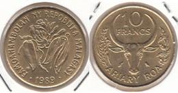 Madagascar 10 Francs 1989 F.A.O. KM#11 - Used - Madagascar