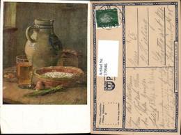 579946,Künstler Ak Aug. Croissant Pfälzer Stillleben Aufstrich I. Schüssel Zwiebel Es - Küchenrezepte