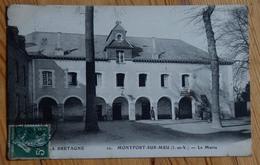 56 : Montfort-sur-Meu - La Mairie - Animée : Petite Animation - Plan Inhabituel - (n°13268) - Savenay