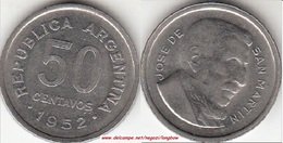 Argentina 50 Centavos 1952 KM#49 - Used - Argentina