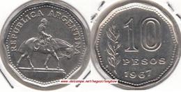 Argentina 10 Pesos 1967 KM#60 - Used - Argentina