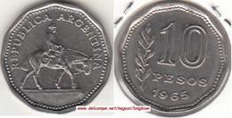 Argentina 10 Pesos 1965 KM#60 - Used - Argentina