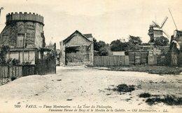 PARIS XVIII 18 Vieux Montmartre LOT De 3 Cartes Sur La Tour Castel Du Philosophe Ancienne Ferme De Bray Moulin Galette - Distrito: 18