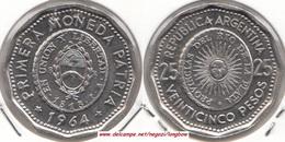 Argentina 25 Pesos 1964 KM#61 - Used - Argentina