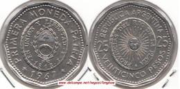 Argentina 25 Pesos 1967 KM#61 - Used - Argentine