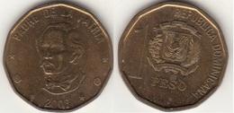 Dominican Republic 1 Peso 2008 Km#80.2 - Used - Dominicaine