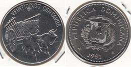 Dominican Republic 25 Centavos 1991 Km#71.1 - Used - Dominicana