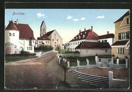 AK Buchloe, Strassenpartie Mit Blick Zur Kirche - Buchloe