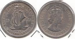 East Caribbean States 25 Cents 1957 Km#6 - Used - Caribe Oriental (Estados Del)