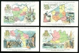 Beau Lot De 9 Cartes Postales De Belgique Cartes Géographiques Des Neuf Provinces Mooi Lot Van 9 Postk. Provincie België - Postkaarten