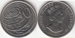 Cayman Islands 10 Cents 1990 Hawksbill Turtle Km#89 - Used - Cayman Islands