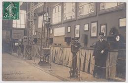 Carte Photo Expostion De Turin 1911 ? Materiel Ferroviaire Société Nord Sud 20 Rue Athenes Paris Omnium Lyonnais Torino - Treni