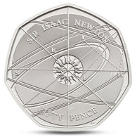 GREAT BRITAIN UK  50 PENCE SIR ISAAC NEWTON 2017 UNC - 1971-… : Decimal Coins