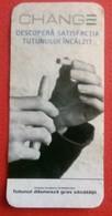 ROMANIA-CIGARETTES  CARD,NOT GOOD SHAPE-0.90 X 0.44 CM - Tabac (objets Liés)