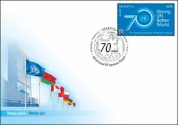 TH_ Belarus 2015 70Y UN UNO United Nations FDC - Organizations