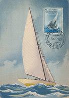 D35245 CARTE MAXIMUM CARD 1955 SAN MARINO - SAILING BOATS CP ORIGINAL - Sailing