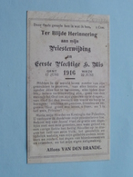 """Herinnering PRIESTERWIJDING Van Alfons VAN DEN BRANDE """" 1916 """" Gent 17 Juni / Wieze 22 Juni ( Zie Foto's ) ! - Religion &  Esoterik"""