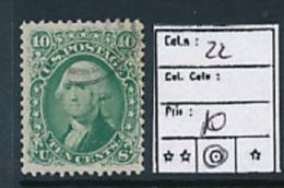 USA YVERT 22 USED - 1847-99 Emissioni Generali