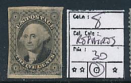 USA YVERT 8 REPAIRED USED - 1847-99 Unionsausgaben