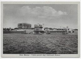 Noto Marina - Veduta Generale Degli Stabilimenti Balneari - Formato Grande (1925) - Otras Ciudades