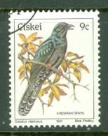 Ciskei: 1981/90   Birds   SG13   9c    Used - Ciskei