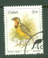 Ciskei: 1981/90   Birds   SG16   20c    Used - Ciskei