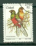 Ciskei: 1981/90   Birds   SG20   R1    Used - Ciskei