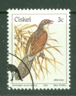 Ciskei: 1981/90   Birds   SG7   3c    Used - Ciskei