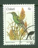 Ciskei: 1981/90   Birds   SG8   4c    Used - Ciskei