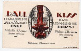 Paris Rue Léon Delhomme : Carte PAUL KISS  Ferronerie Serrurerie  (PPP15252) - Advertising