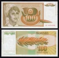 Jugoslawien - Yugoslavia 100 Dinara 1990 UNC Pick 105  (16388 - Yugoslavia
