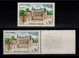 Varieté - YV 1390 N** Amboise : 1 Tres Clair (manque D'Ocre) Et Un Foncé - Variétés: 1960-69 Neufs