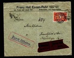 A5632) DR Infla Expressbrief Essen 8.5.22 EF Mi.194a Gepr. Infla - Briefe U. Dokumente