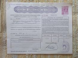 Q5104-SELLOS FISCALES TIMBROLOGIA FILATELIA FISCAL ENTEROS FISCALES POLIZA OPERACIONES AL CONTADO ETAPA DICTADURA FRANQU - Fiscales