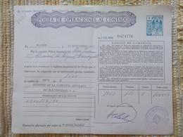 Q5106-SELLOS FISCALES TIMBROLOGIA FILATELIA FISCAL ENTEROS FISCALES POLIZA OPERACIONES AL CONTADO ETAPA DICTADURA FRANQU - Fiscales