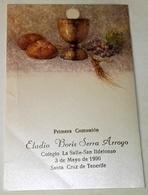 Antiguo Recordatorio Primera Comunión - Busquets Gruart / 1990 - Imágenes Religiosas