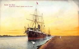 SUEZ CANAL - S/S Yarra Enchored In The Canal - Publ. Ephtimios. - Suez