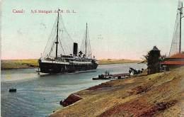 SUEZ CANAL - S/S Stuttgart Of The Nord Deutsche Linie - Publ. The Cairo Postcard Trust. - Suez