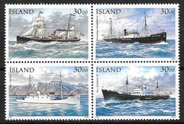 Islande 1995 Bloc Neuf 789/792 Bateaux Postaux - 1944-... Republik