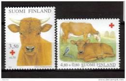 Finlande 2000 N°1491/92 Neufs Croix Rouge Avec Vaches - Nuevos